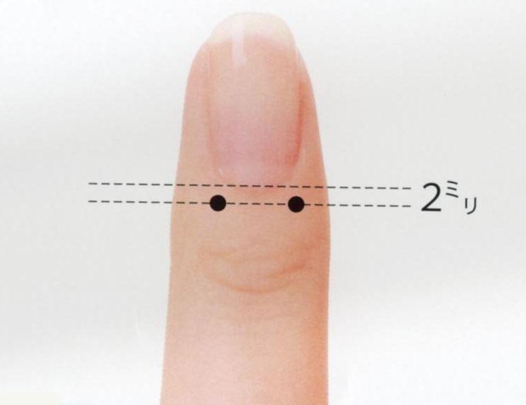 手指の爪もみ療法